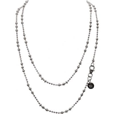 Buy Nikki Lissoni Silver 80cm Graduated Beads Chain