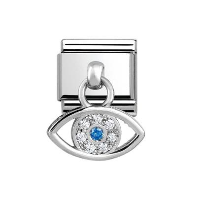Buy Nomination Hanging CZ Silver Evil Eye