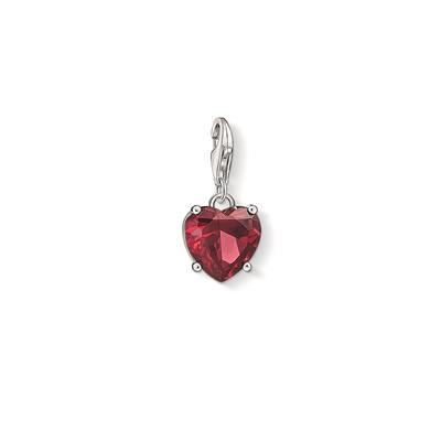 Buy Thomas Sabo Silver Red Corundum Heart Charm