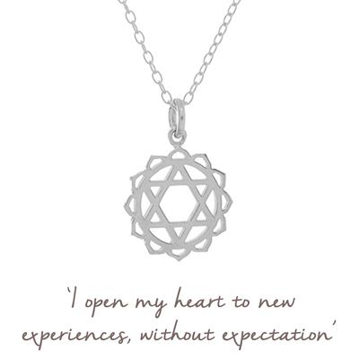Buy Mantra Heart Chakra Necklace in Sterling Silver