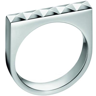 Buy Calvin Klein Silver Edge Ring Size 8