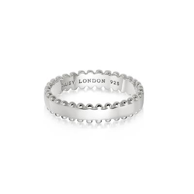 Buy Daisy Silver Side Beaded Ring (M)