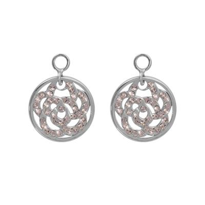 Buy Nikki Lissoni Sparkling Flower Silver Coin Drops