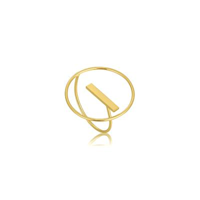 Buy Ania Haie Modern Minimalism Gold Circle Adjustable Ring