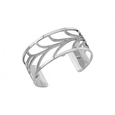 Buy Les Georgettes Medium Silver CZ Courbe Cuff