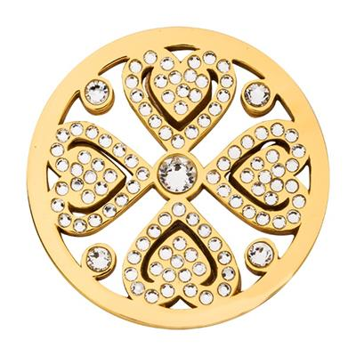 Buy Nikki Lissoni Gold Swarovski Vintage Love 33mm Coin