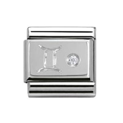Buy Nomination Silver CZ Gemini