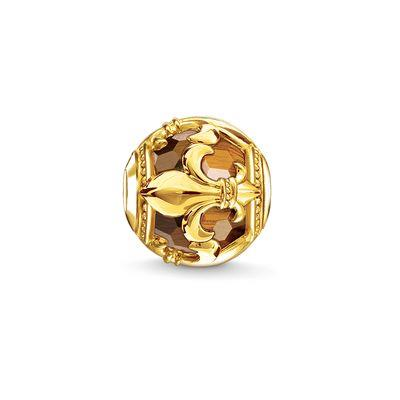 Buy Thomas Sabo Gold Tiger's Eye Fleur-de-Lis Bead