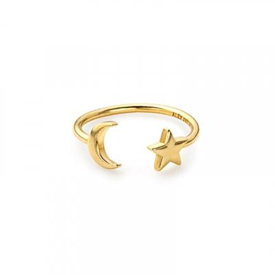 Buy Alex and Ani Moon and Star Ring Wrap in Gold