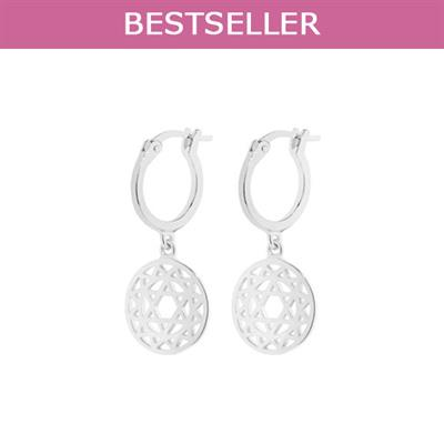 Buy Daisy Heart Chakra Silver Drop Earrings