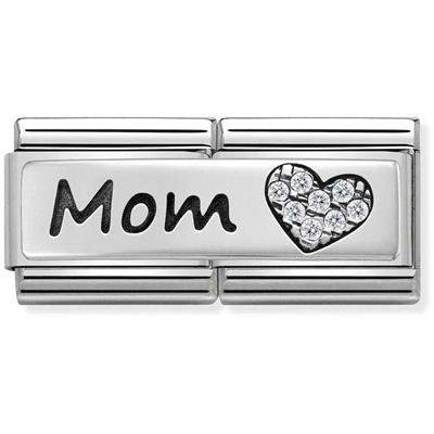 Buy Nomination Silver CZ Mom Double Link