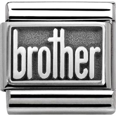 Buy Nomination Silver Oxidised Brother Charm