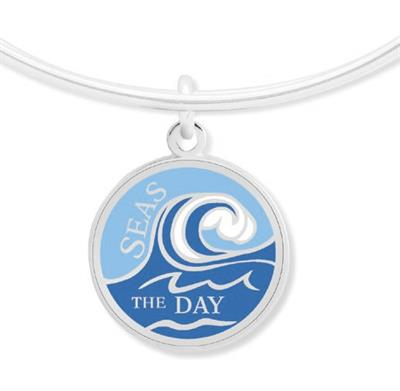 Buy Alex and Ani Seas The Day Bangle in Shiny Silver