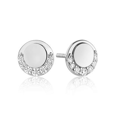 Buy Sif Jakobs Silver Portofino Piccolo Earrings with White CZ