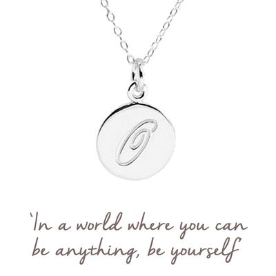 Buy O Mantra Initial Necklace