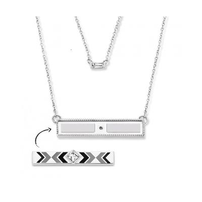 Buy Take What You Need Silver Toned 42cm Earth Double Necklace