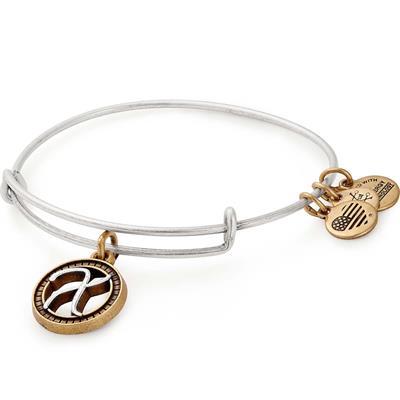 Buy Alex and Ani X Initial Two-Tone Bangle