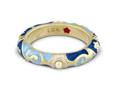 Buy Lauren G Adams Fiesta Blue Pearl Ring in Gold Size 8