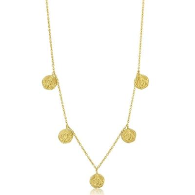 Buy Ania Haie Gold Plated Small Coins Necklace
