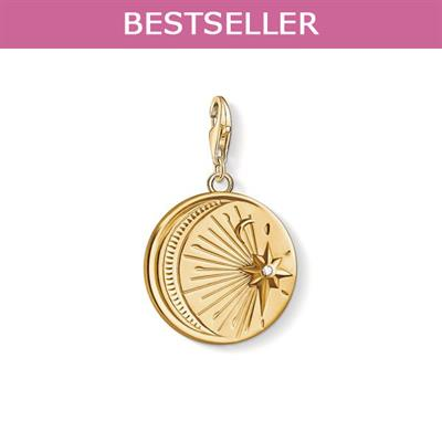 Buy Thomas Sabo Gold Vintage CZ Moon and Star Charm