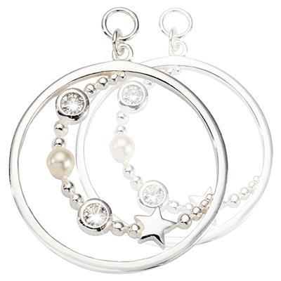 Buy Nikki Lissoni Silver Around the World Earring Coins