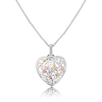Buy Engelsrufer Sterling Silver Tricolour Tree Of Life Heart Necklace