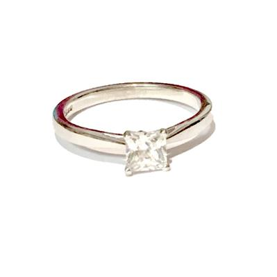Buy Precious Gems White Gold & Diamond Ring Size O