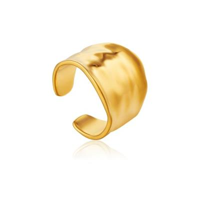 Buy Ania Haie Gold Crush Wide Ring