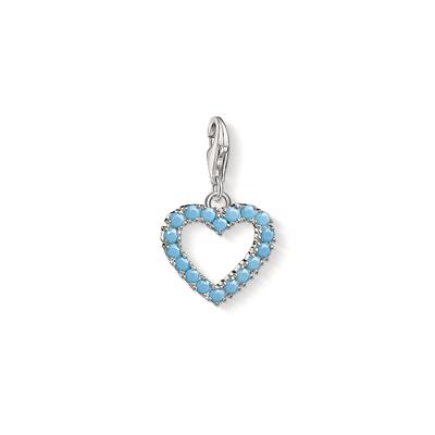 Buy Thomas Sabo Silver Baby Blue Heart Charm
