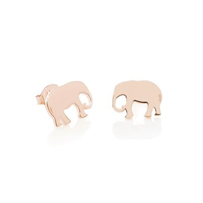 Buy Daisy Elephant Rose Gold Good Karma Stud Earrings