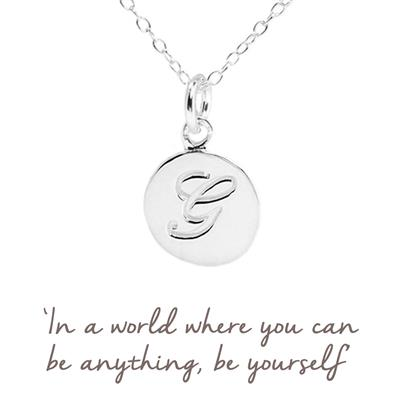 Buy G Mantra Initial Necklace