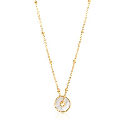 Buy Ania Haie Hidden Gem Gold Mother of Pearl Disc Ball Chain Necklace