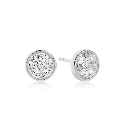Buy Sif Jakobs Sterling Silver Novara Piccolo Earrings with CZ