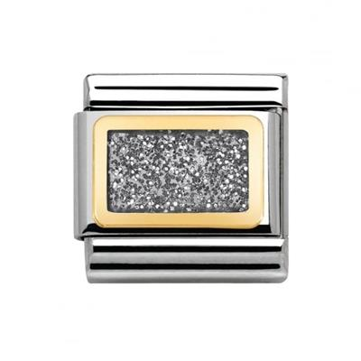 Buy Nomination Gold and Silver Glitter Plate Charm