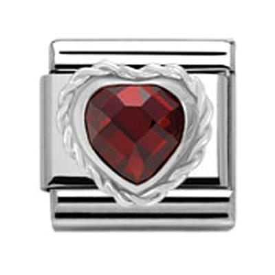 Buy Nomination Red Heart with Twisted Silver charm