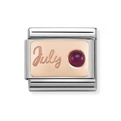 Buy Nomination Rose Gold July Ruby Charm