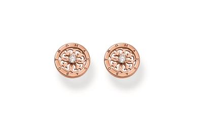 Buy Thomas Sabo Rose Gold Filigree CZ Stud Earrings