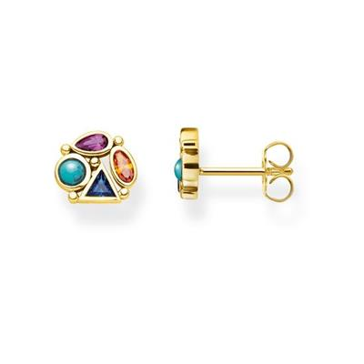 Buy Thomas Sabo Yellow Gold Multistone Stud Earrings