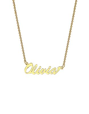 Buy me.mi Name Necklace in Yellow Gold