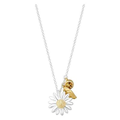 Buy Daisy & Feather Drop Necklace