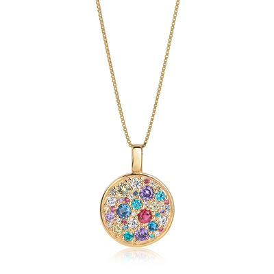 Buy Sif Jakobs 18k Gold Plated Novara Necklace with Multicoloured Zirconia - 45cm