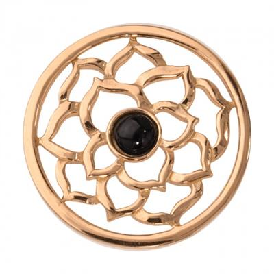 Buy Nikki Lissoni Black Onyx Flower Gold Coin 33mm