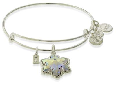 Buy Alex and Ani Silver Crystal Snowflake Bangle