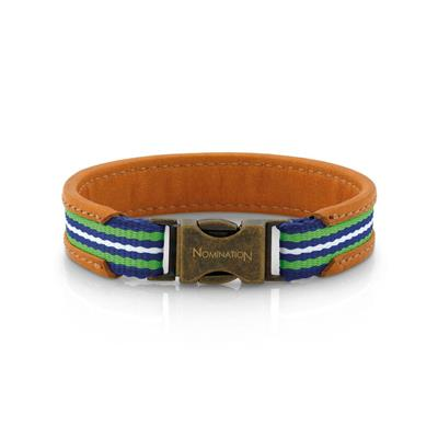Buy Nomination Cruise Tan Leather Bracelet Green