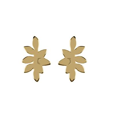 Buy Sara Miller Gold Leaf Stud Earrings