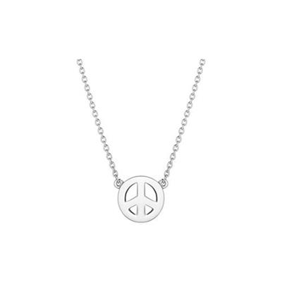 Buy Daisy Peace Sign Silver Good Karma Necklace