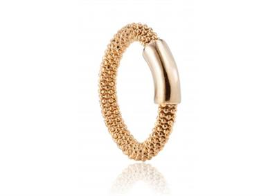 Buy Pure Attraction Yellow Gold Plain Mesh Ring