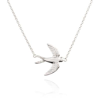 Buy Daisy Silver Swooping Bird Necklace