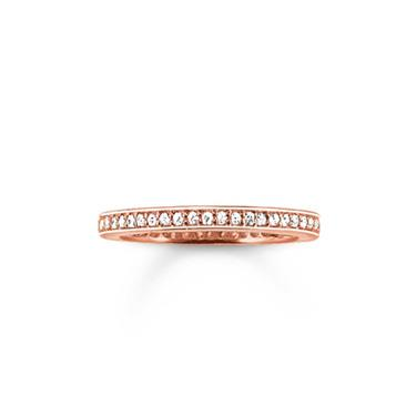 Buy Thomas Sabo Slim Eternity Ring Rose-Gold Plated Size 54
