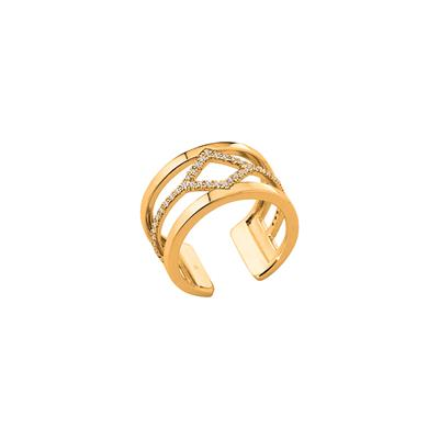 Buy Les Georgettes Gold CZ Losange Ring 56